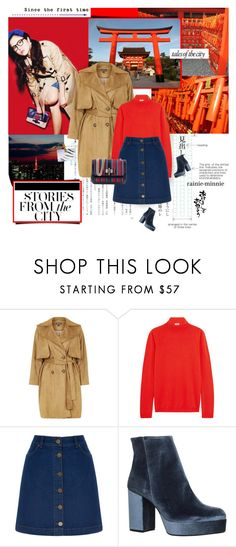 """Tales of the city"" by rainie-minnie ❤ liked on Polyvore featuring Topshop, Jil Sander, Oasis, Carvela, Christian Louboutin, country, personalstyle, japan and tokyo"
