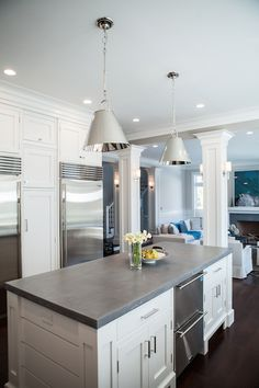 Kitchen Island with Concrete Countertop, Transitional, kitchen, Integrity Custom Woodworks