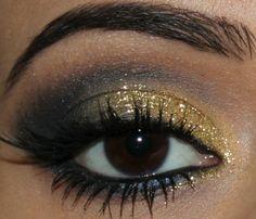 maquiagem sombra dourada e azul (11)