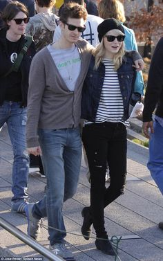 emma stone and peter parker together offset | Emma Stone and Andrew Garfield remain inseparable as they hang out on ...