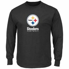 Pittsburgh Steelers Majestic Critical Victory VIII Long Sleeve Black T-Shirt