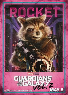Guardians Of The Galaxy Rocket Marvel 03 Poster A3 Guardianes De La Galaxia