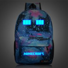 Minecraft Backpack Schoolbag Travel Satchel Sports bag Bookbag ...