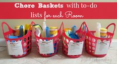 Really helpful for kids helping with chores. Weekly Organizing Links: Become Intentional, Chore Kits, Tackle Procrastination more! Weekly Cleaning, Cleaning Checklist, House Cleaning Tips, Cleaning Kit, Diy Cleaning Products, Spring Cleaning, Cleaning Supplies, Cleaning Schedules, Speed Cleaning