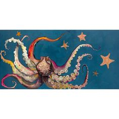 Octopus and Starfish Canvas Painting