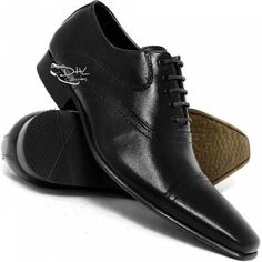 Sapato Social Couro Legitimo Cadarço - DHL Calçados