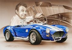 François Bruere art, Every week we feature an artist who specialises in art or photography of motorsport/cars/bikes. Ac Cobra 427, Shelby Cobra Replica, Le Mans, Mustang Cobra, Ford Mustang, Automobile, Carroll Shelby, Cool Sports Cars, Old Fords