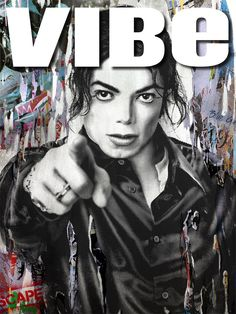 "Mr. Brainwash - Michael Jackson Xscape - poster in the Xscape Deluxe Edition Soft Pack/Digipack, here cover of the magazine ""VIBE"" May 2014"