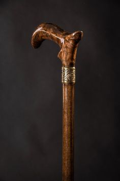 TIP HEAVY SOLID BRASS COLLAR 3 STUDD Victorian Handle  ONLY Walking Stick Cane