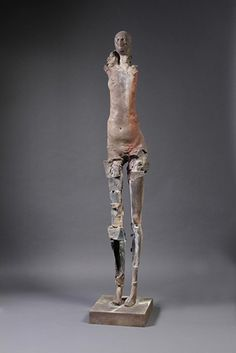 "Stephen De Staebler – Woman on Tiptoe II, 2010 | Bronze, Edition of 4 | 86"" h x 16.5"" w x 17.5"" d"