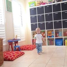 Our recently sorted & tidied playroom.