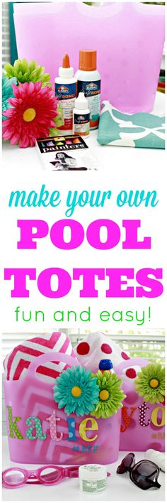 Make Your Own Pool Totes - Fun and Easy Kids Craft