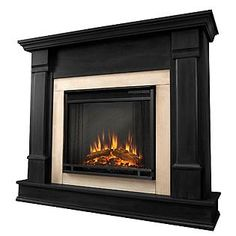 Real Flame  Silverton Electric Fireplace in Black 41Hx48Wx13D | Online only | Sears  Item#  00931398000 | Model#  G8600E-B