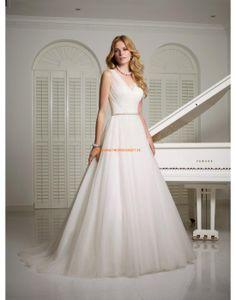RONALD JOYCE Schlichte Glamouröse Lange Brautkleider aus Softnetz