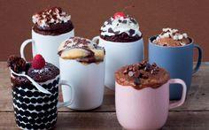 Bak cake in een koffiekop