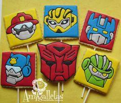 Transformers Cookies Rescue Bots by Amigalletas on Etsy, $39.00
