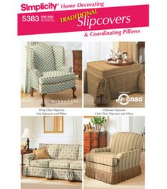 Simplicity Pattern 5383-Slipcovers-One Size: Home Decor Patterns: sewing patterns: fabric: Shop | Joann.com