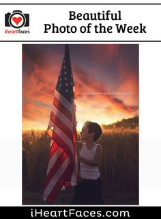 Beautiful Photo of the Week #photography #iheartfaces #patriotic #flag #american
