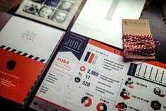 First Birthday Infographic Invitations by Misty Manley, via Behance