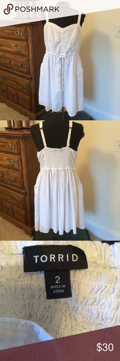 Plus Size white dress Torrid white sundress. Lightly worn. torrid Dresses