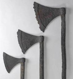 Viking Age battle axes from Lough Corrib, Co. Galway, Ireland (image National Museum of Ireland) Viking Burials Ireland
