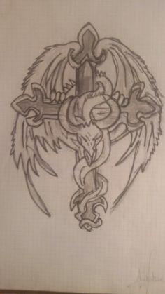 Cruz con dragón
