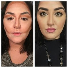 makeup by me contour and highlight with NYX COSMETICS mineral stick foundations. Blended with Beauty Blender. Kylie Jenner Lips. www.themakeupdoll...