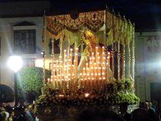 Fotografía de Alejandro Galán Ruiz. Jueves Santo, María Santísima del Dulce Nombre -Ciudad Real- Realizada con móvil