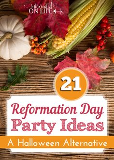 Reformation Day Party Ideas (A Halloween Alternative) is part of children Day Party - Are you looking for a Christian halloween alternative for October 31 Celebrate Reformation Day! Teach your children about church history and have fun! Reformation Sunday, Martin Luther Reformation, Christian Halloween, Christian Homemaking, Christian Parenting, All Saints Day, Harvest Party, Church Activities, Bible Activities