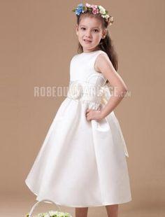 Nœud papillon robe cortège enfant satin robe sur mesuere fleur [#ROBE207886] - robedumariage.com