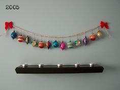 Love this pendant banner style ornament display.