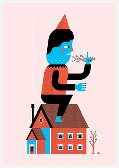 Something on the Roof by Andrew Groves, via Behance