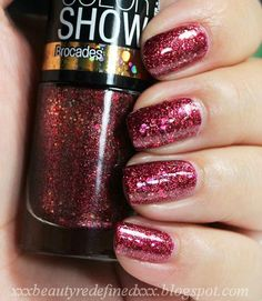 Maybelline Color Show Nail Polish Limited Edition #775 CRUSHED CRIMSON #Maybelline