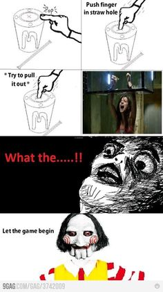 I laughed wayyy harder than I should have. 'Saw' in real life Derp Comics, Rage Comics, Funny Comics, Stupid Funny Memes, Funny Relatable Memes, The Funny, Hilarious, Funny Shit, Funny Stuff