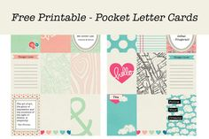 Free printable pocket letter cards - Parcel Party