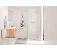 Moderne og rengjøringsvennlig dusjkabinett str 90x90 cm hvit/klar