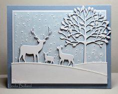 Winter Scene by labullard - Cards and Paper Crafts at Splitcoaststampers-Memory Box dies