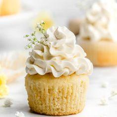 Lemon and Elderflower Cupcakes - Food Duchess Sprinkle Cupcakes, Lemon Cupcakes, Cupcake Flavors, Cupcake Recipes, Elderflower Cordial, Cupcake Pans, Swiss Meringue Buttercream, Sour Cream, Vanilla Cake