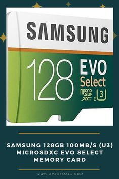 Details: #Samsung MicroSD EVO is perfect for high-res photos, gaming, music, tablets, laptops, action cameras, DSLR's, drones, smartphones (Galaxy S10, S10+, S10e, S9, S9+, Note9, S8, S8+, Note8, S7, S7 Edge, etc.), Android devices and more. #Up to 100MB/s read and 90MB/s write speeds. #Shock proof memory card is also water proof, temperature proof, x-ray proof and magnetic proof. #Warranty for SD adapter is limited to 1 year. Price: $19.49 For purchase, Click on img.