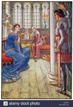 This 1911 Illustration By Walter Crane Shows Sir Owen, A Knight Of ...