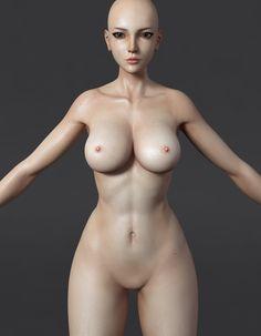 ArtStation - 《Attack on Titan_Katarina》WIP- nud body test01, Ju long