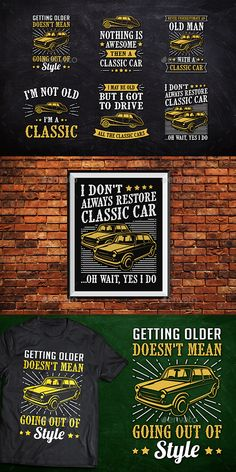 Classic Car Tshirt Badge #car #concept Download : https://graphicriver.net/item/classic-car-tshirt-badge/21482615?ref=pxcr