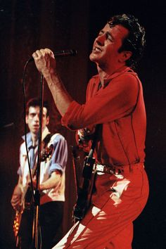joe strummer of the clash performing at the mogador theatre, september 25, 1981, taken by bernard legon