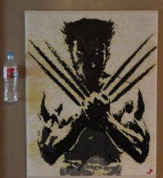 Wolverine Perler Bead Art Large 24000 Beads by JPBeadStudio