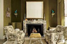 olive velvet fabric interior - Google-søk