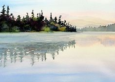 "MORNING MIST by Enda Bardell Watercolour ~ 16"" x 20"""