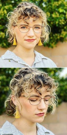 Hairstyles for Thick Curly Hair Young Girls Hairstyles, Simple Hairstyles, Curly Bob Hairstyles, Hairstyles For Round Faces, Straight Hairstyles, Curly Hair Styles Easy, Thick Curly Hair, Short Hair Styles, Shaved Pixie Cut