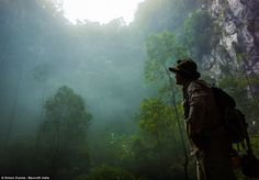 Hard to find: The approach to the Son Doong Cave in Vietnam involves a treacherous 36-hour journey through dense jungle