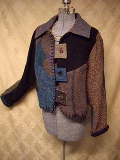 Baabaa Zuzu Baabaazuzu Boutique Designer Upcycled Wool Jacket M   eBay