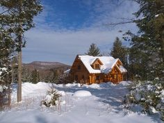 Stowe House Rental: New Log Home With Great Views And A Quiet Setting | HomeAway